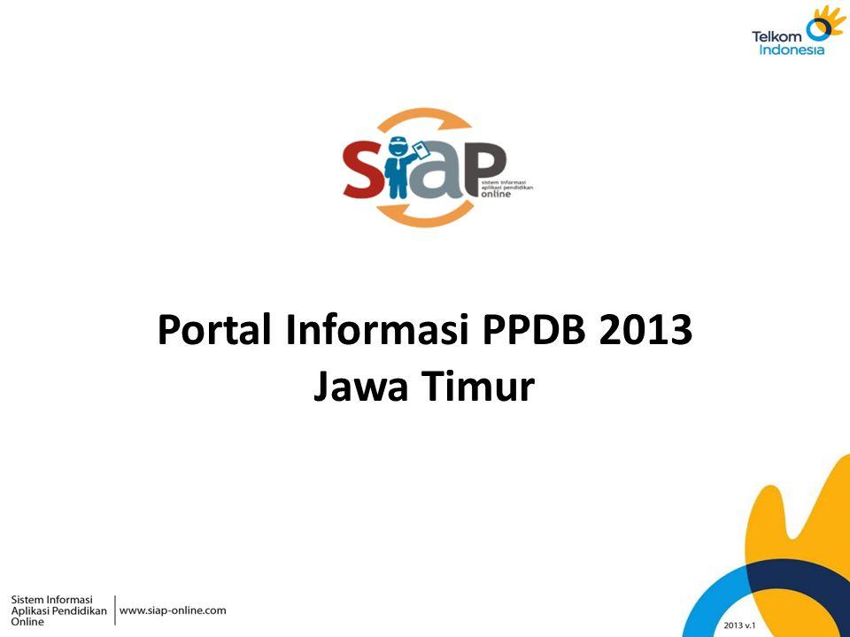 Portal Informasi PPDB 2013 Jawa Timur