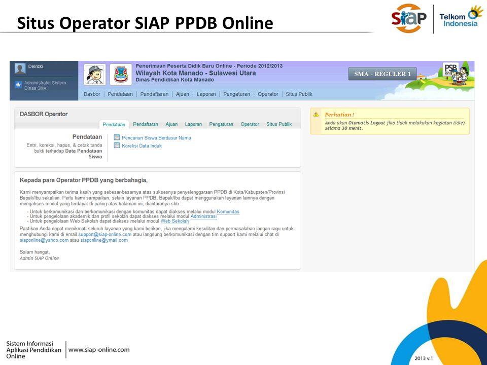 Situs Operator SIAP PPDB Online