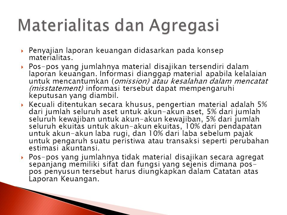Materialitas dan Agregasi