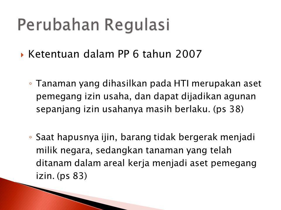 Perubahan Regulasi Ketentuan dalam PP 6 tahun 2007