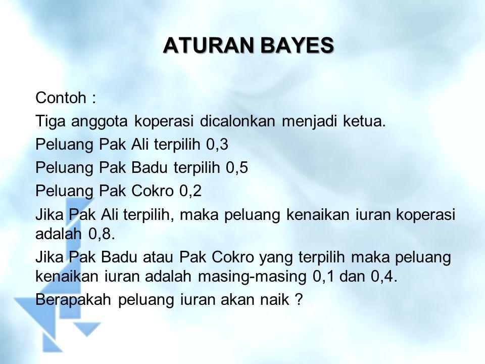 ATURAN BAYES