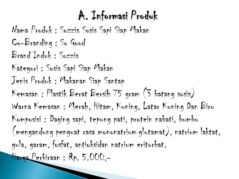 A. Informasi Produk