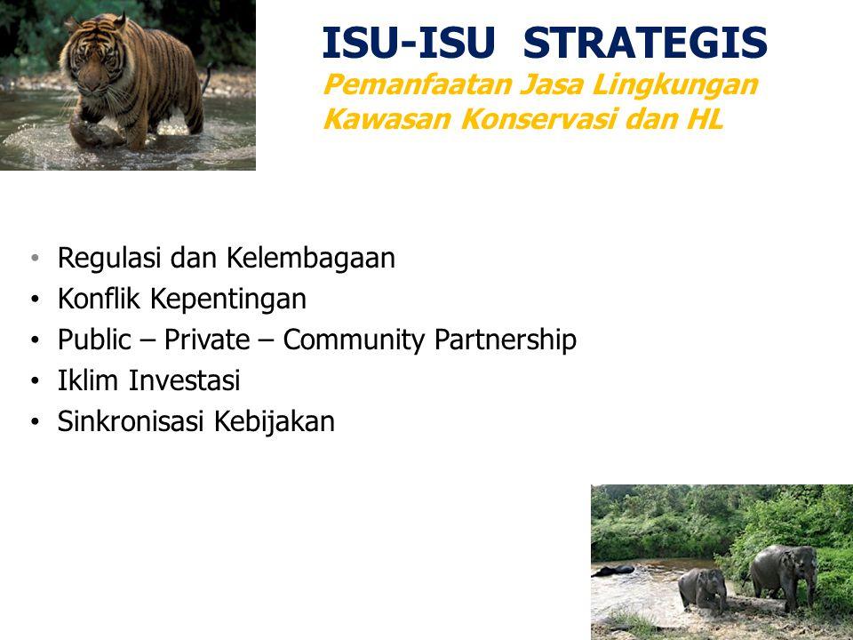 ISU-ISU STRATEGIS Pemanfaatan Jasa Lingkungan Kawasan Konservasi dan HL