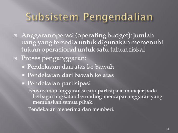 Subsistem Pengendalian