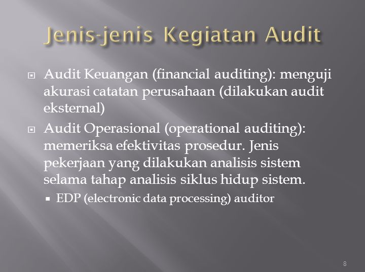 Jenis-jenis Kegiatan Audit