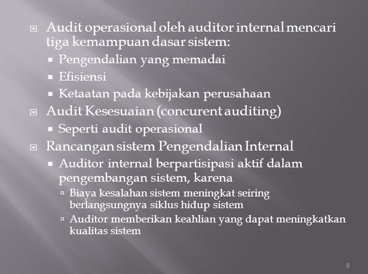 Audit Kesesuaian (concurent auditing)
