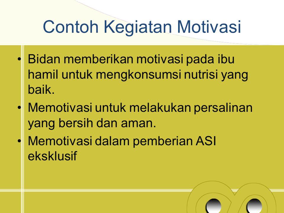 Contoh Kegiatan Motivasi