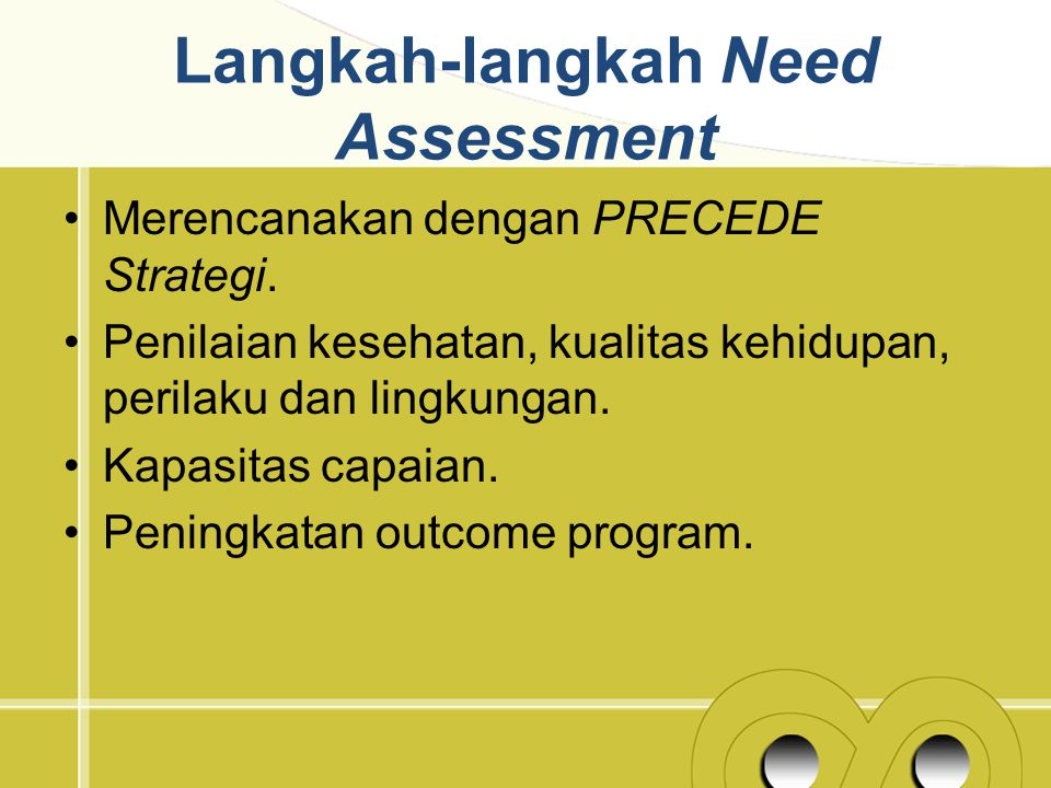Langkah-langkah Need Assessment