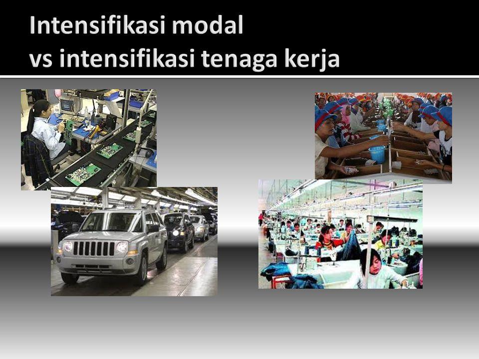 Intensifikasi modal vs intensifikasi tenaga kerja