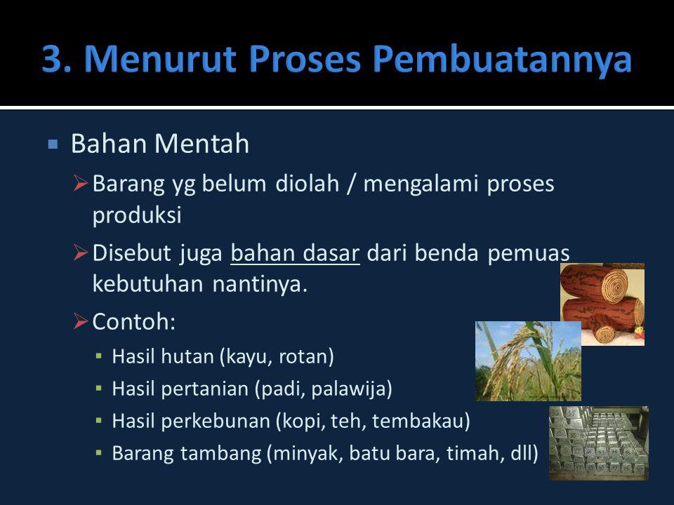 3. Menurut Proses Pembuatannya