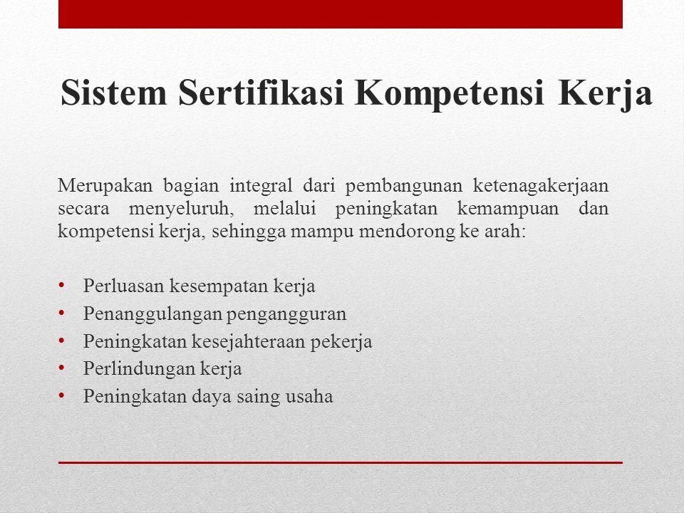 Sistem Sertifikasi Kompetensi Kerja
