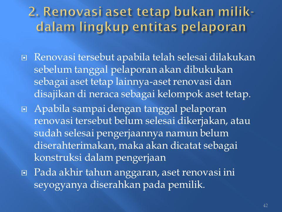 2. Renovasi aset tetap bukan milik-dalam lingkup entitas pelaporan