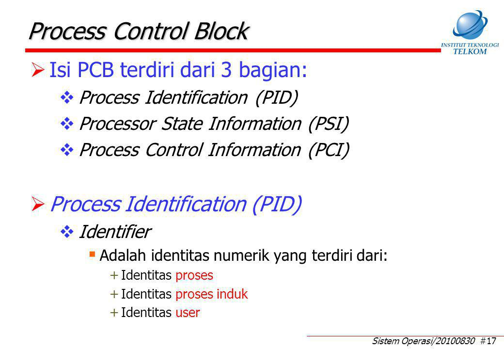 Processor State Information (PSI) (1)