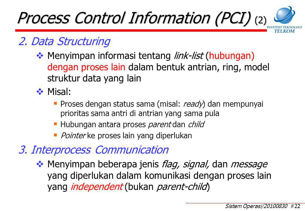 Process Control Information (PCI) (3)