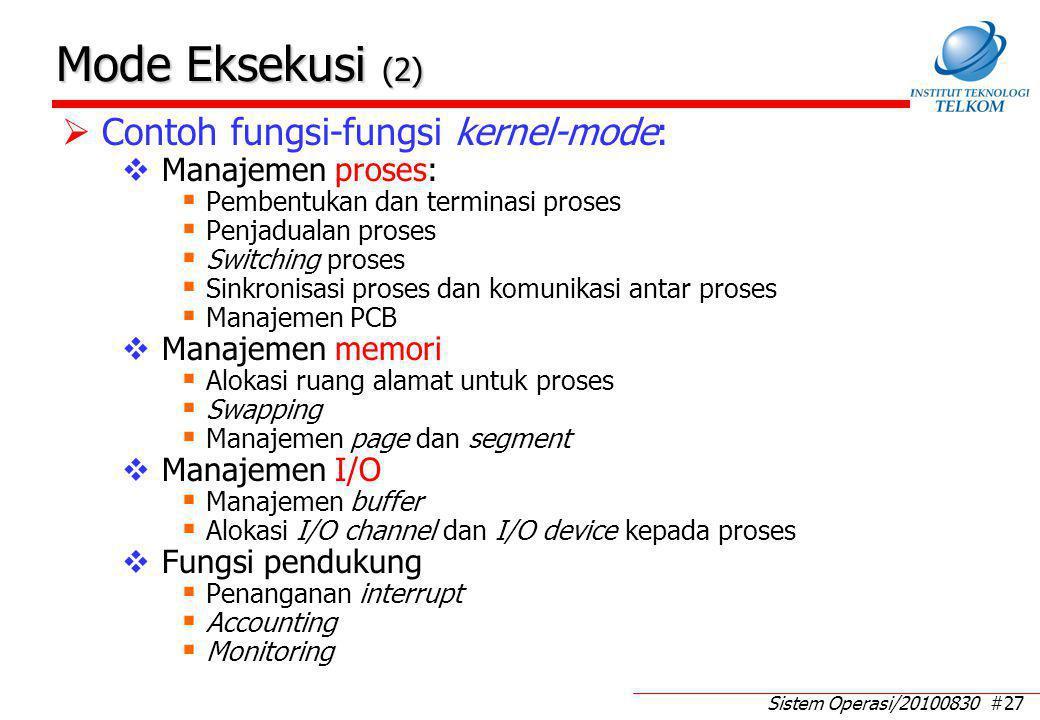 Agenda: Penciptaan proses Kontrol proses: