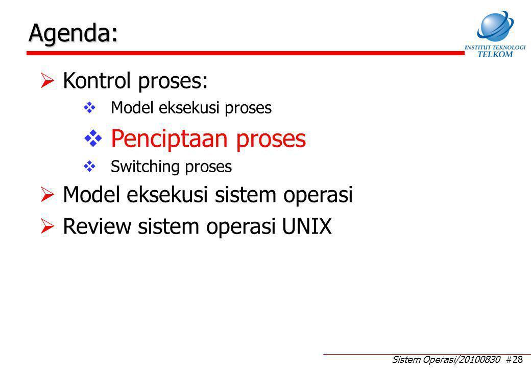 Pembentukan (Create) Proses (1)