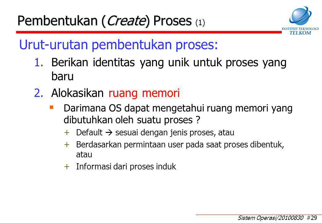 Pembentukan (Create) Proses (2)