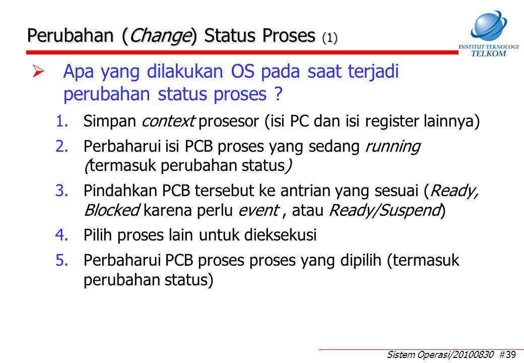 Perubahan (Change) Status Proses (2)