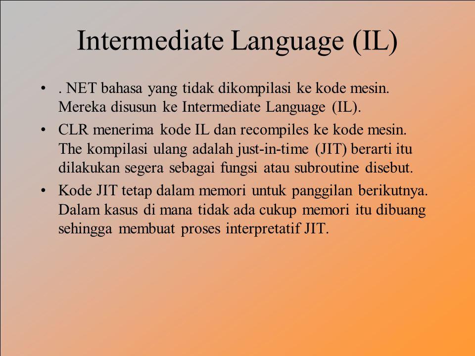 Intermediate Language (IL)
