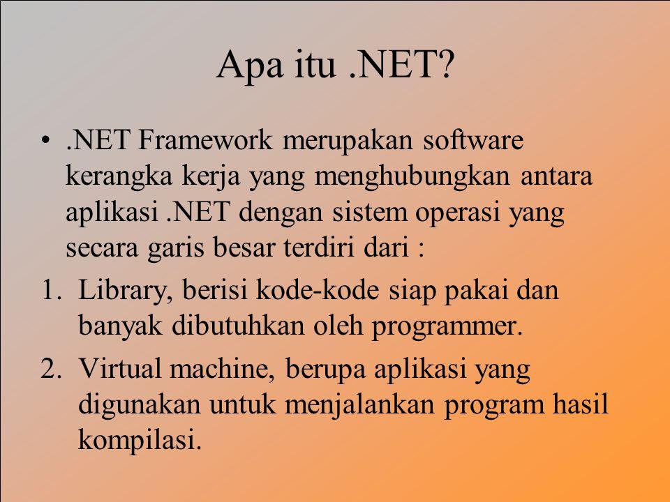 Apa itu .NET