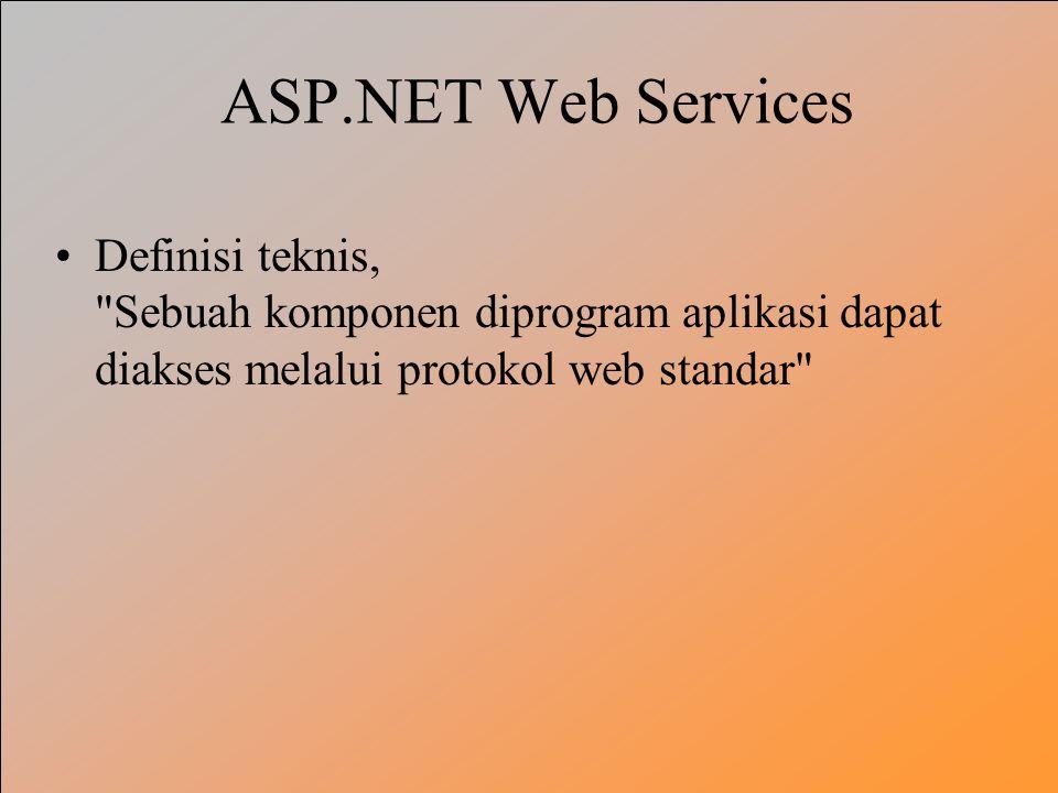 ASP.NET Web Services Definisi teknis, Sebuah komponen diprogram aplikasi dapat diakses melalui protokol web standar