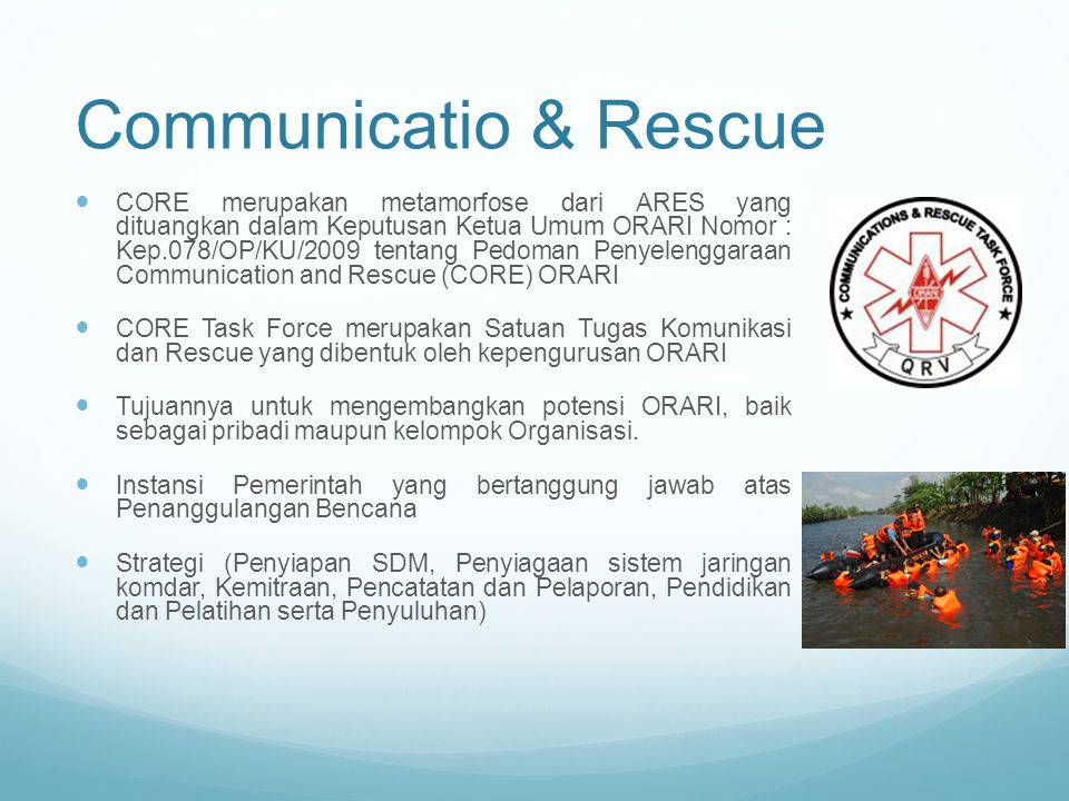 Communicatio & Rescue