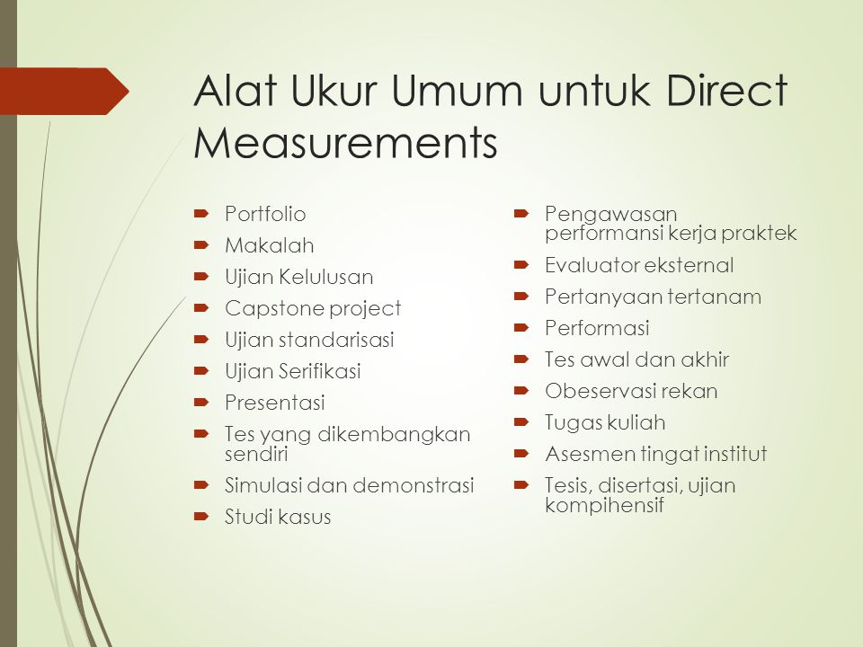 Alat Ukur Umum untuk Direct Measurements