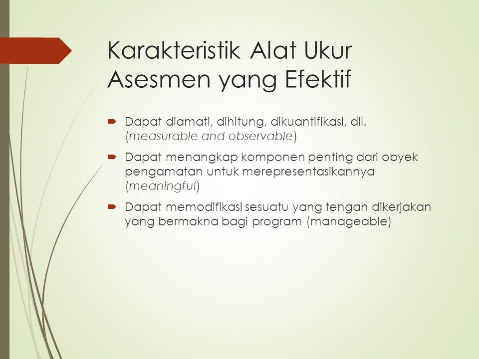 Karakteristik Alat Ukur Asesmen yang Efektif
