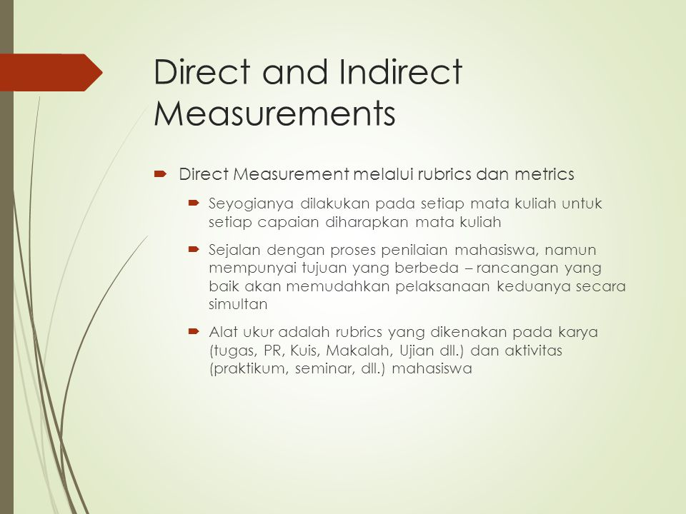 Direct and Indirect Measurements