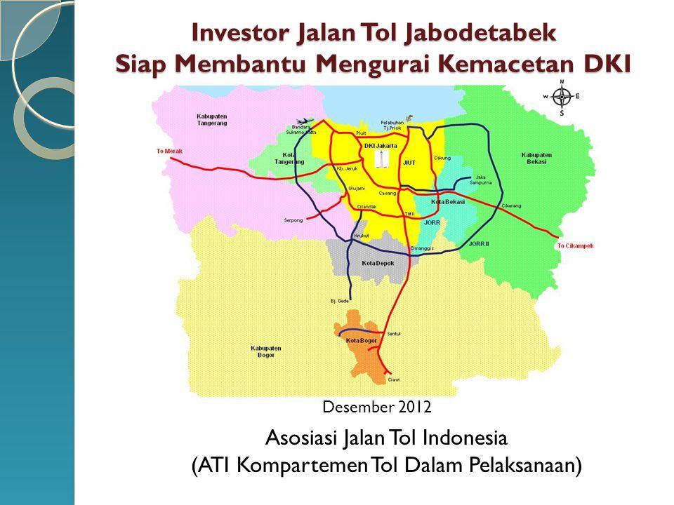 Investor Jalan Tol Jabodetabek Siap Membantu Mengurai Kemacetan DKI