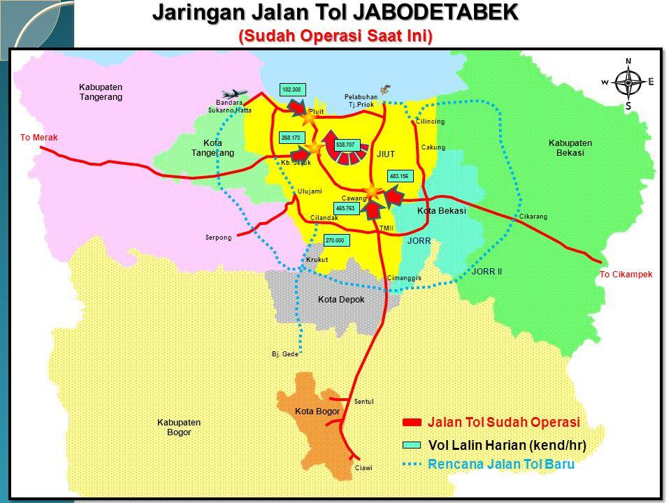 Jaringan Jalan Tol JABODETABEK (Sudah Operasi Saat Ini)
