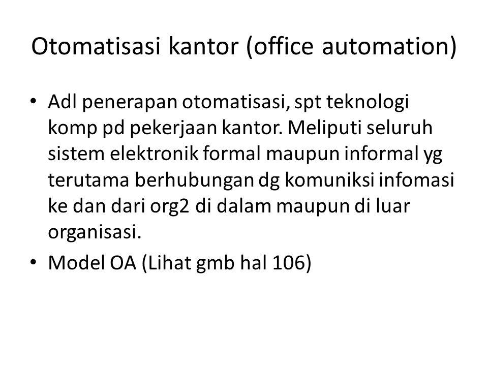 Otomatisasi kantor (office automation)