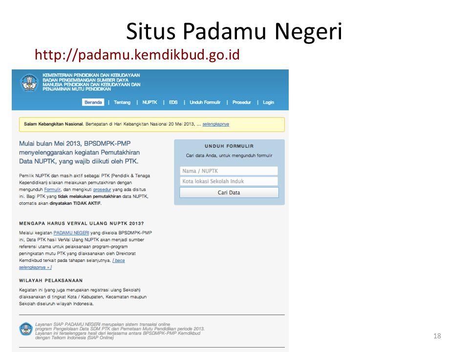 Situs Padamu Negeri http://padamu.kemdikbud.go.id