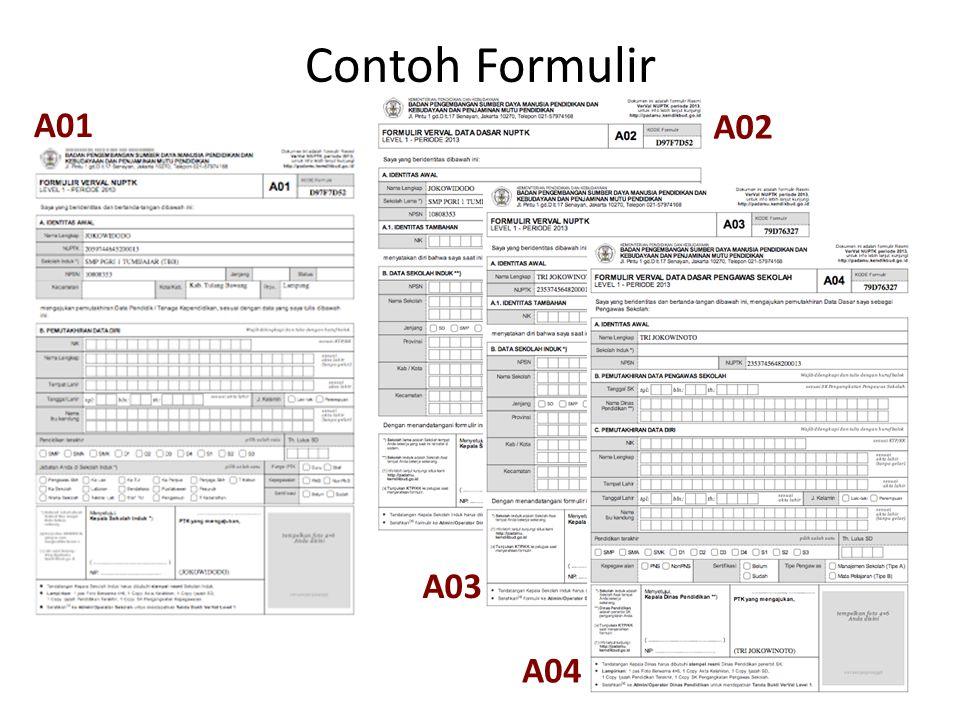 Contoh Formulir A01 A02 A03 A04