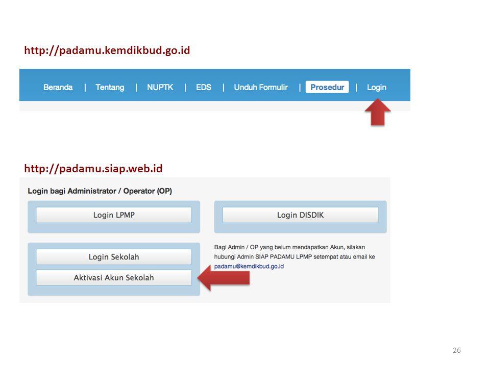 http://padamu.kemdikbud.go.id http://padamu.siap.web.id