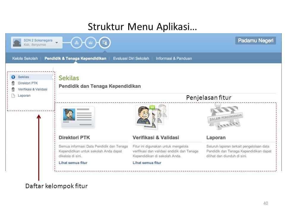 Struktur Menu Aplikasi…