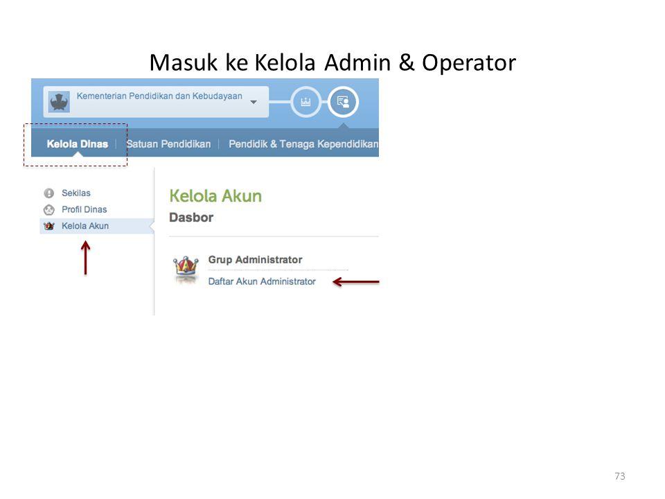 Masuk ke Kelola Admin & Operator