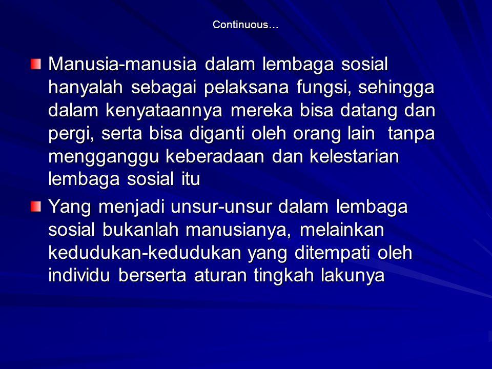 Continuous…