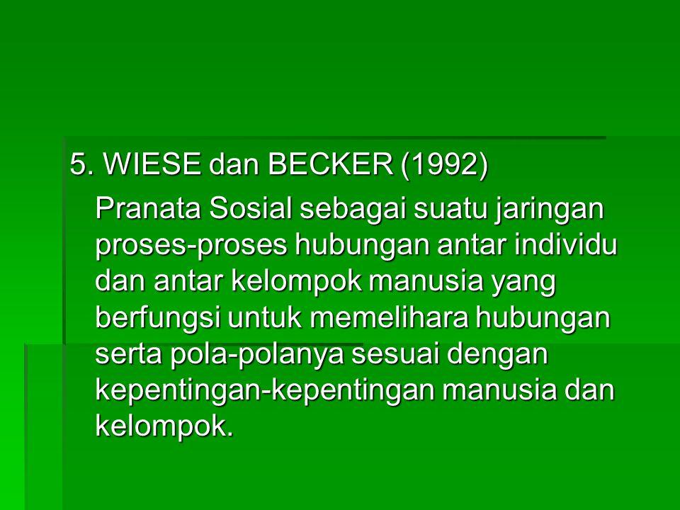 5. WIESE dan BECKER (1992)