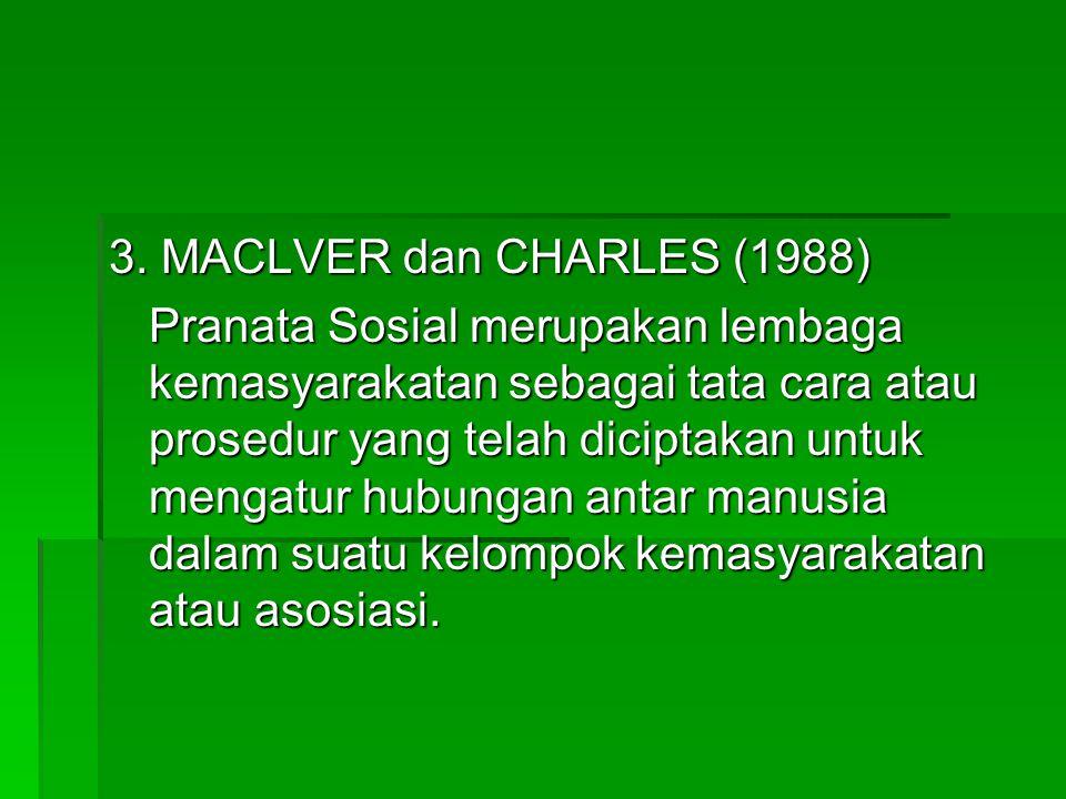 3. MACLVER dan CHARLES (1988)