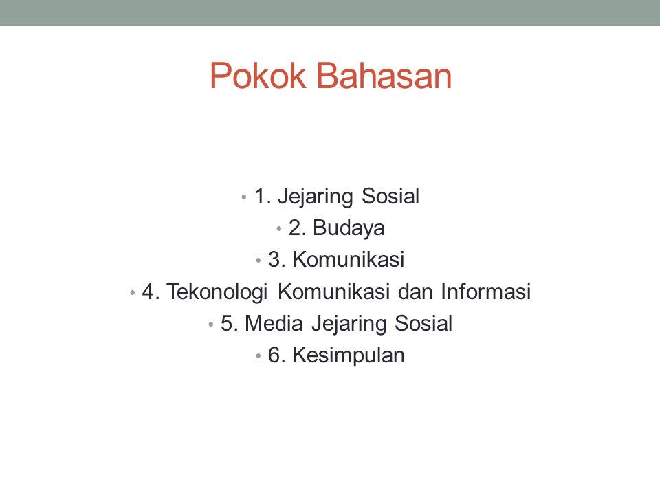 4. Tekonologi Komunikasi dan Informasi