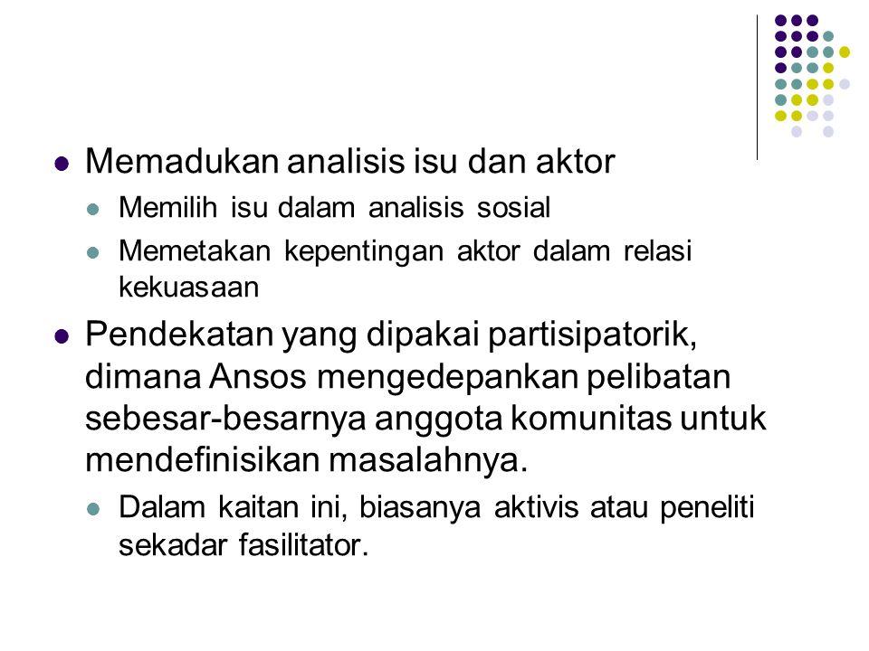 Memadukan analisis isu dan aktor