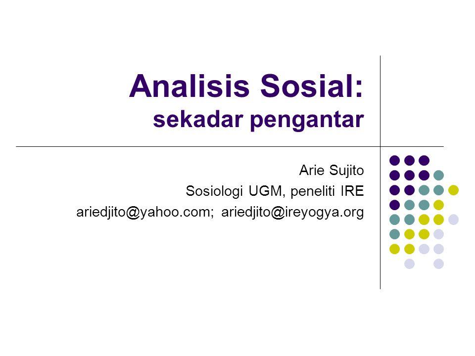 Analisis Sosial: sekadar pengantar