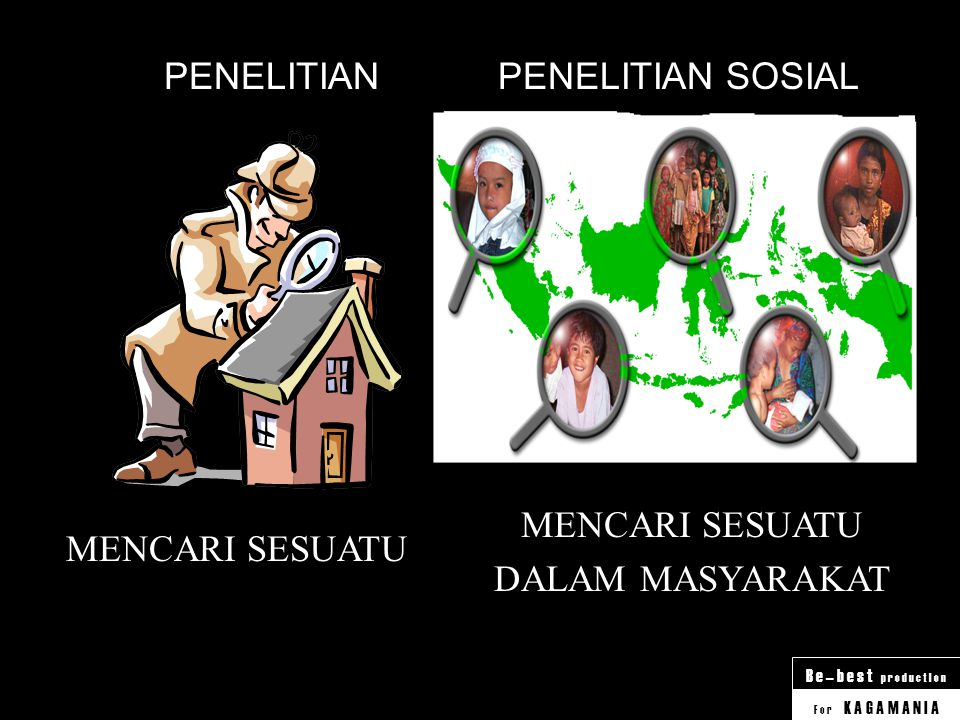 PENELITIAN PENELITIAN SOSIAL MENCARI SESUATU DALAM MASYARAKAT MENCARI SESUATU