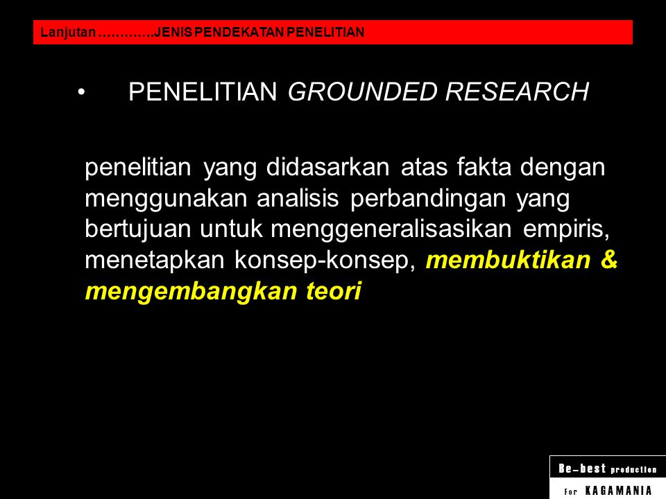 PENELITIAN GROUNDED RESEARCH