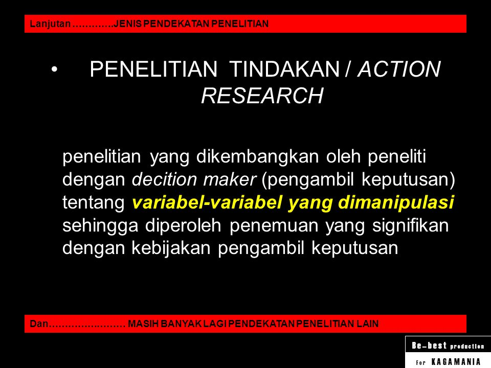 PENELITIAN TINDAKAN / ACTION RESEARCH