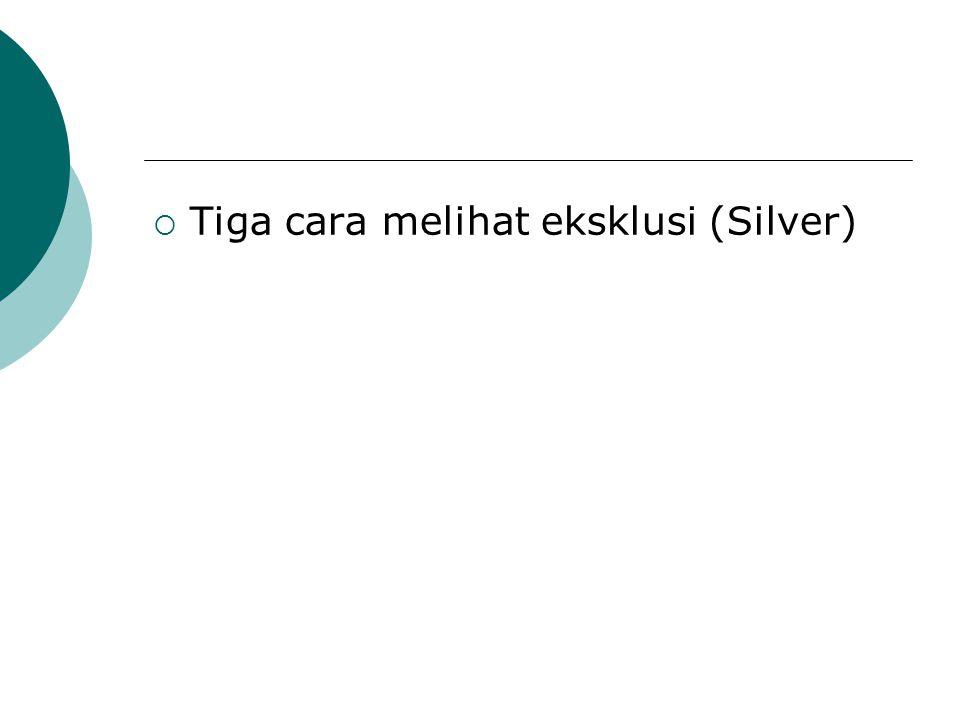Tiga cara melihat eksklusi (Silver)