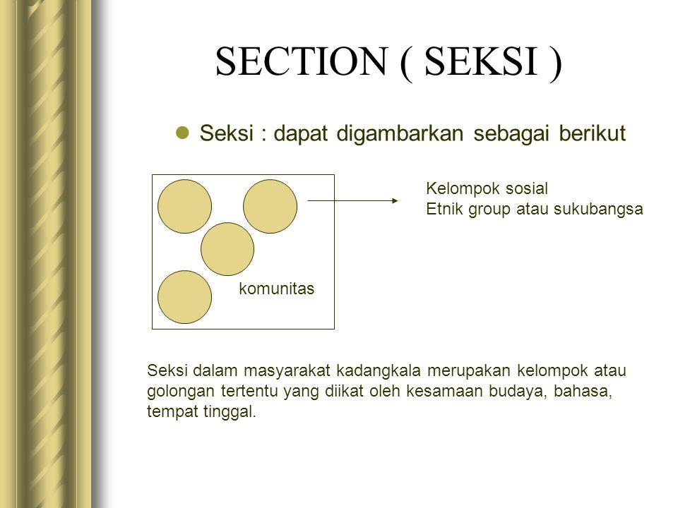 Seksi : dapat digambarkan sebagai berikut