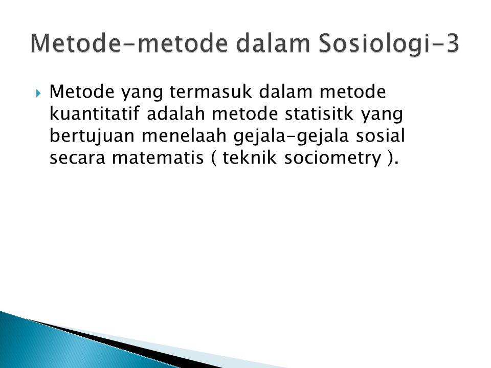 Metode-metode dalam Sosiologi-3