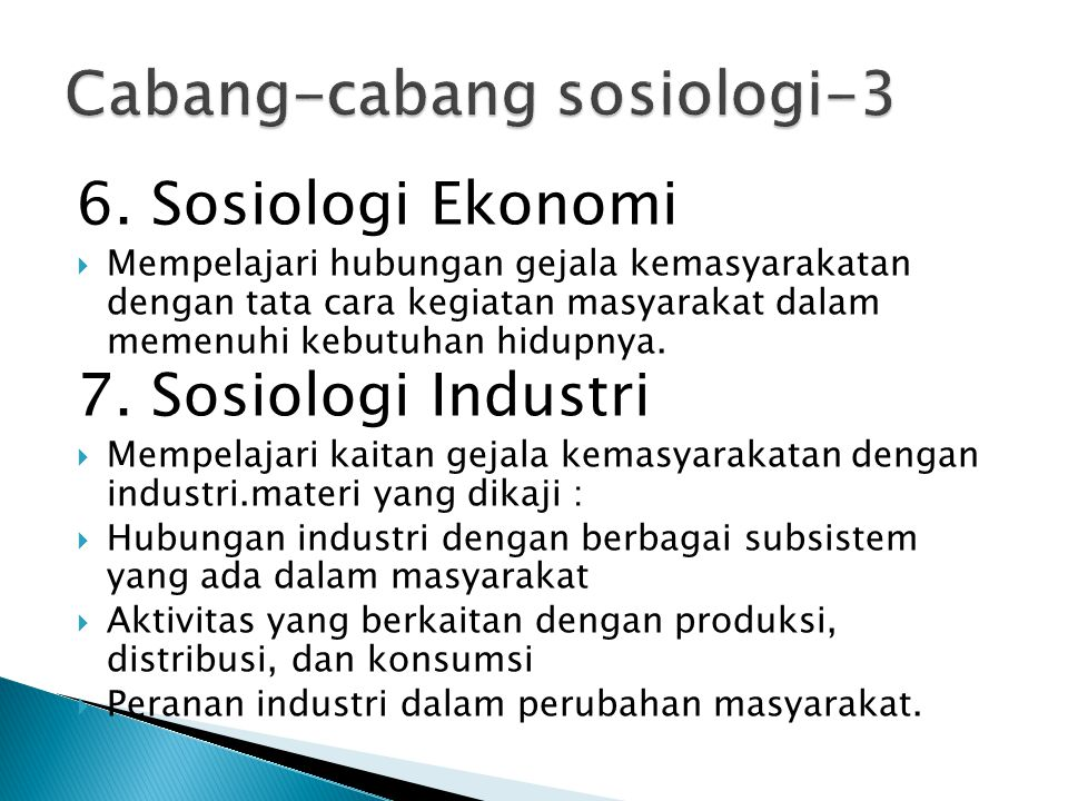 Cabang-cabang sosiologi-3